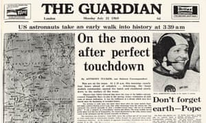 Apollo 11: Guardian front page marks moon landing