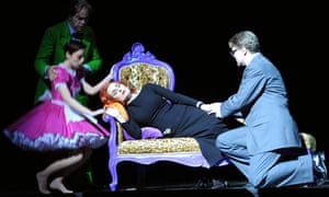 Janis Kelly as Madame, centre, in Prima Donna at The Palace Theatre Manchester