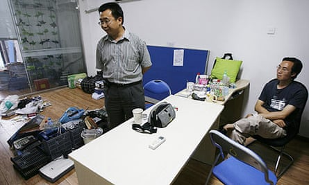 An office of the Gongmeng legal research centre after officials shut it down.