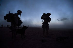 Operation Khanjar: Marines make preparations as they wait for helicopter transport