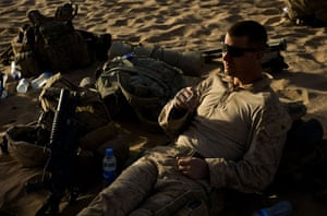 Operation Khanjar: Marines wait to board helicopters