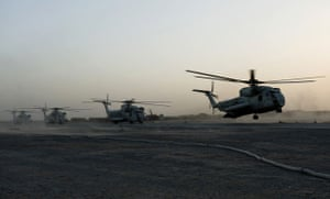 Operation Khanjar: Helicopters carrying US Marines