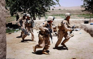 Operation Khanjari: Marines they take enemy fire during the start of Operation Khanjari