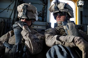Operation Khanjari: Marines are airlifted by helicopter into their battle space