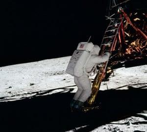 Apollo 11: Buzz Aldrin sets foot on the moon