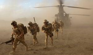 British troops in Afghanistan's Upper Sangin valley