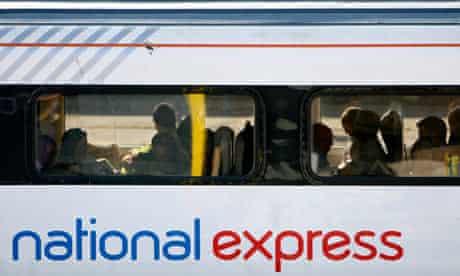 A train National Express east coast mainline service