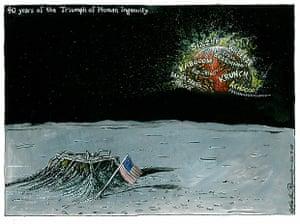 20.07.09: Martin Rowson on the 40th anniversary of the Apollo-11 moon landing