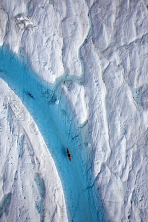 Greenpeace in Greenland: Climate Change Impacts expedition in Arctic : Petermann glacier