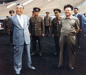 Kim Jong-il: Kim Jong-Il  and Kim Il-Sung in 1992