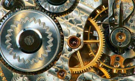 Clockwork inside a pocket watch