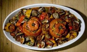 clams basquaise by allegra mcevedy