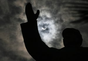 eclipse: solar eclipse in Wuhan, China