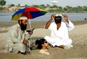 eclipse: Partial Solar eclipse in Hyderabad Pakistan