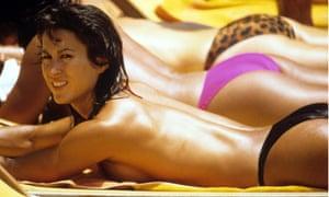 Women sunbathing in St Tropez