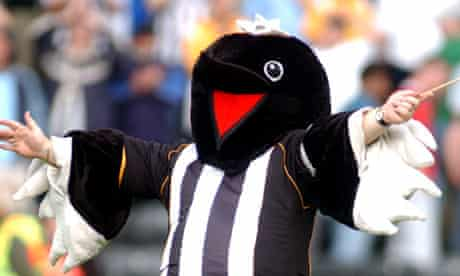Notts County's mascot, Mr Magpie