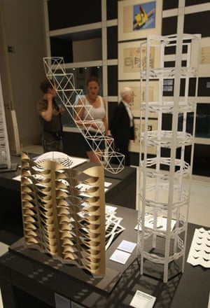 Bauhaus exhibition: Construction and stability studies by students of Josef Albers