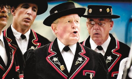 Yodeling involves singing an extended note which rapidly and repeatedly changes in pitch