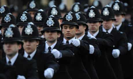 A police passing out parade in Hendon
