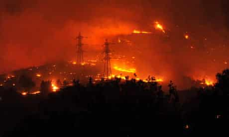wildfire in south of france caused buy foreign legion
