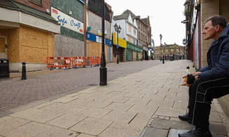 Rotheram town centre in the recession