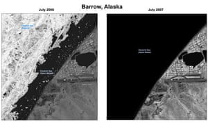 Satellite images of polar ice sheets
