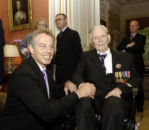 Harry Patch: Harry Patch meets Tony Blair during a reception for military veterans