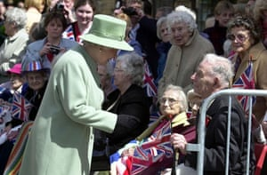 Harry Patch: Harry Patch meets the Queen in Wells market place, Somerset in 2002