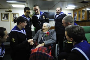 Harry Patch: Harry Patch with Able Seaman Aimee Kelly