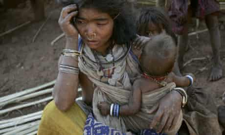 A tribal woman in the forest village of Phuldomer near the mining site of Vedanta Alumina, India