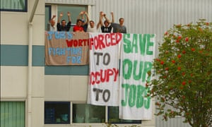 Vestas Wind Systems turbine workers stage jobs fight sit-in, Newport, Isle of Wight