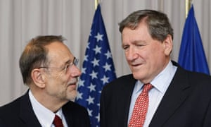 Richard Holbrooke and Javier Solana