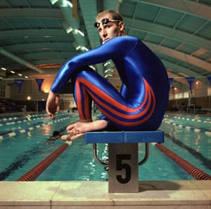 Men in swimsuits: 2000: Paul Palmer, British Olympic swimmer wearing the Adidas Sharkfin suit