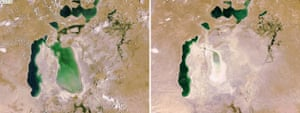 Satellite eye on Earth: The dramatic retreat of the Aral Sea