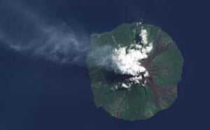 Satellite eye on Earth: Manam Volcano, just off the coast of mainland Papua New Guinea,
