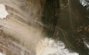 Satellite eye on Earth: Dust Storm over Southern Bolivia