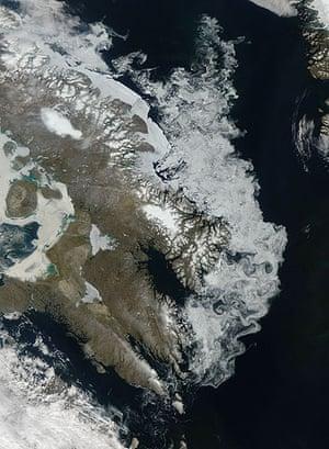 Satellite eye on Earth: the coastline of Canada's Baffin Island