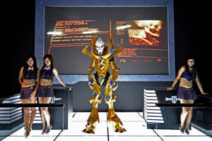 China Digital Expo: Models pose by a character from Blizzard's forthcoming video game