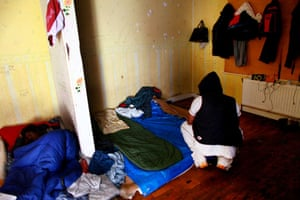 Eritrean refugees Calais: Bedroom at South Africa House
