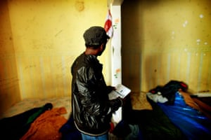 Eritrean refugees Calais: In the bedroom