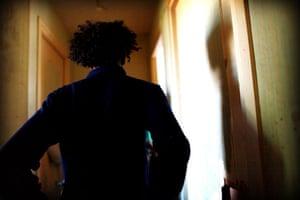 Eritrean refugees Calais: An Eritrean asylum seeker inside the Calais squat