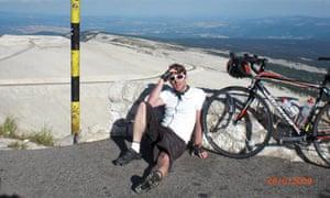 Tom Robbins cycling in France