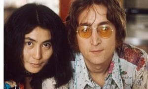 John Lennon and Yoko Ono at their home at Tittenhurst Park.