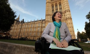 Debbie Purdy outside the House of Lords