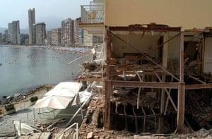 History of ETA: 2003: Hotel Nadal after a bomb blast in Benidorm, Spain, in July