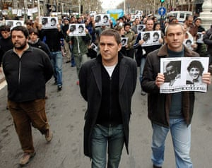 History of ETA: 2006: Outlawed Basque separatist leaders attend a rally
