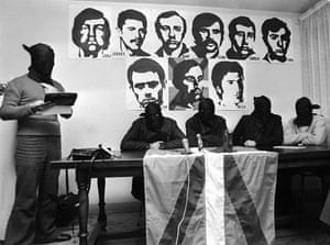 History of ETA: 1973: Four hooded men from Eta give a press conference