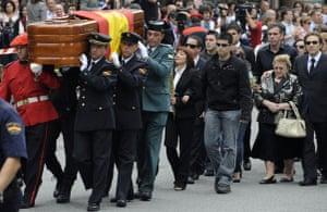 History of ETA: 19 June 2009: Funeral of police officer Eduardo Puelles killed by Eta