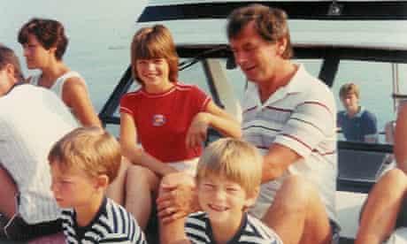 Johnny Ball on a family holiday