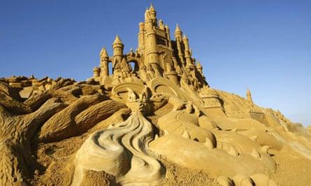 The sand sculpture festival at Blankenberge